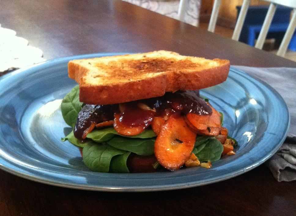 Vegan BBQ Carrot Sandwich